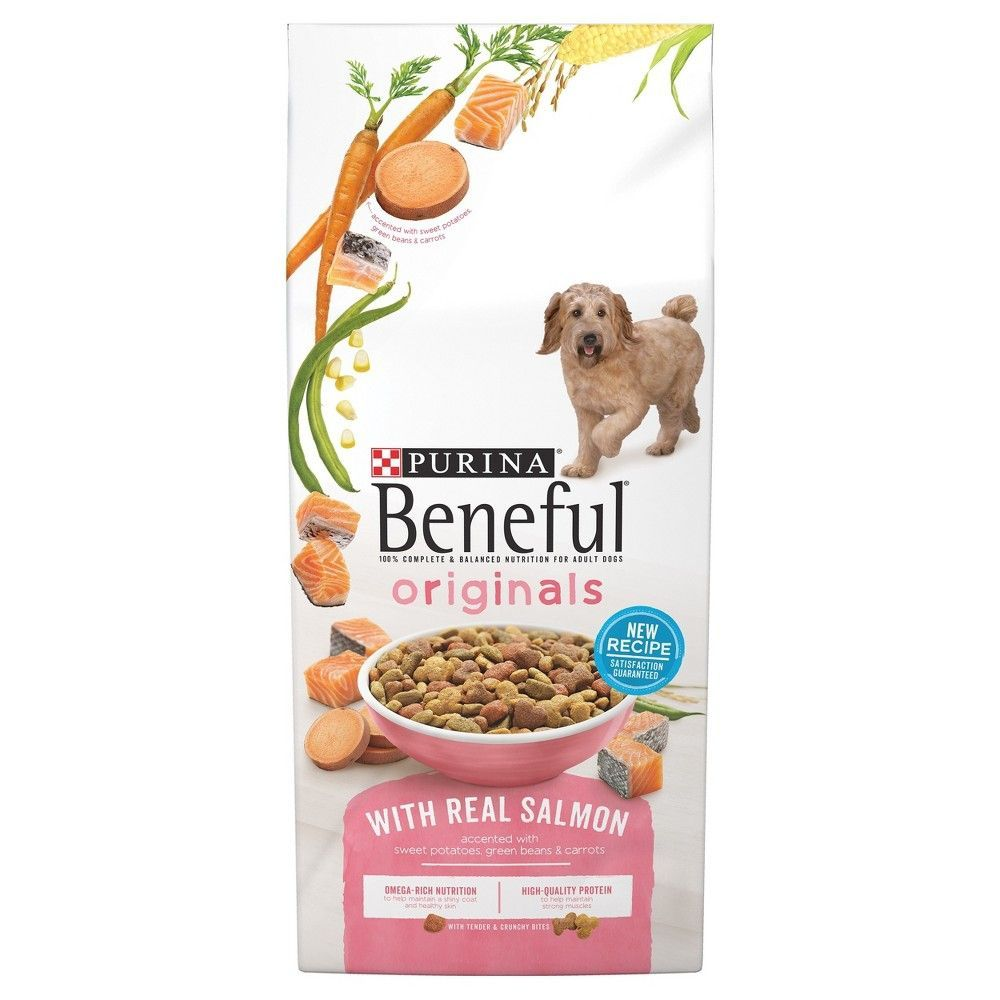 Purina Beneful Originals Real Salmon Dry Dog Food 15 5lbs Dog