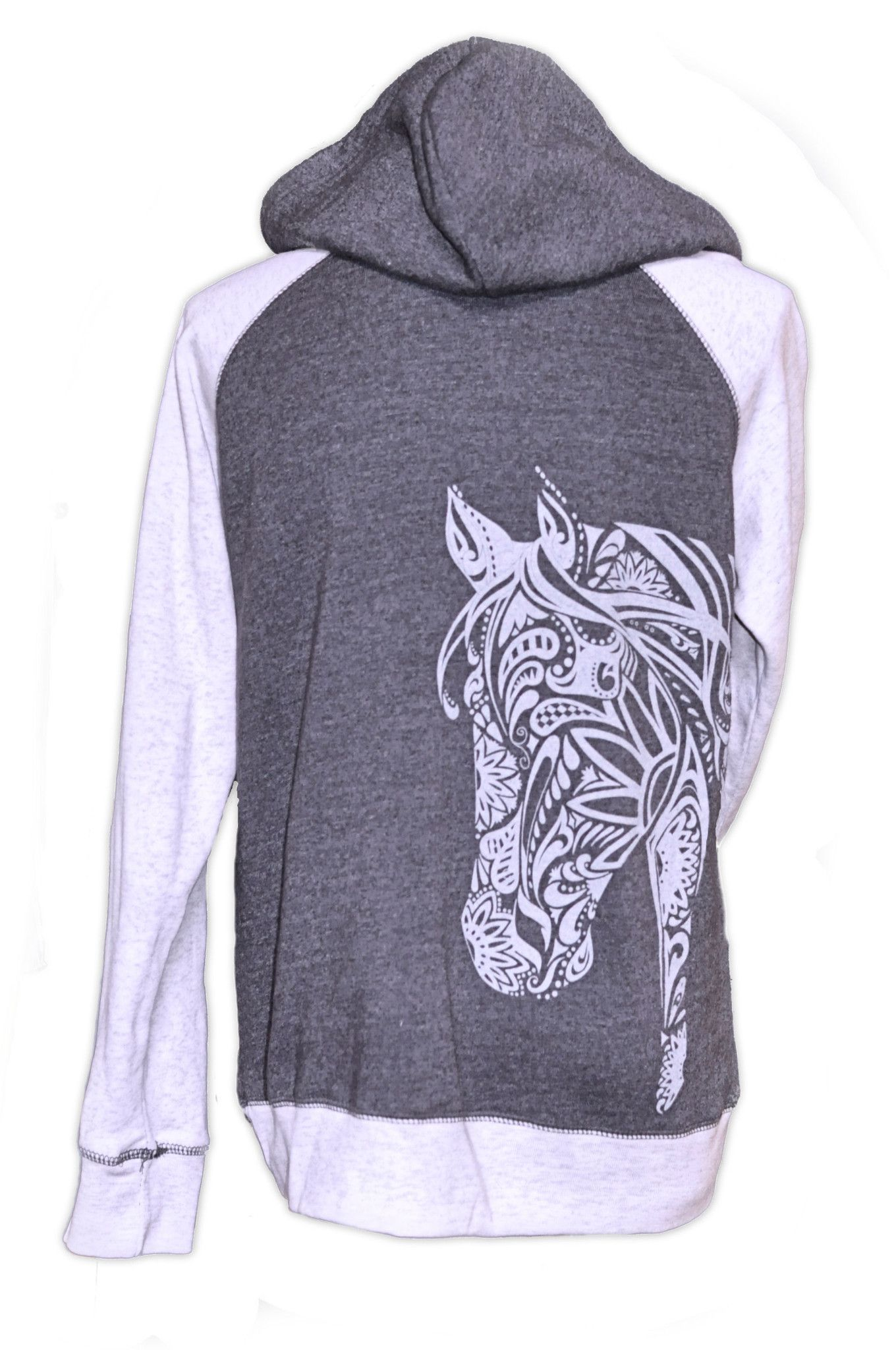 Horse Sweatshirt BOHO Horse Hoodie 2 COLOR LIVE for the RIDE