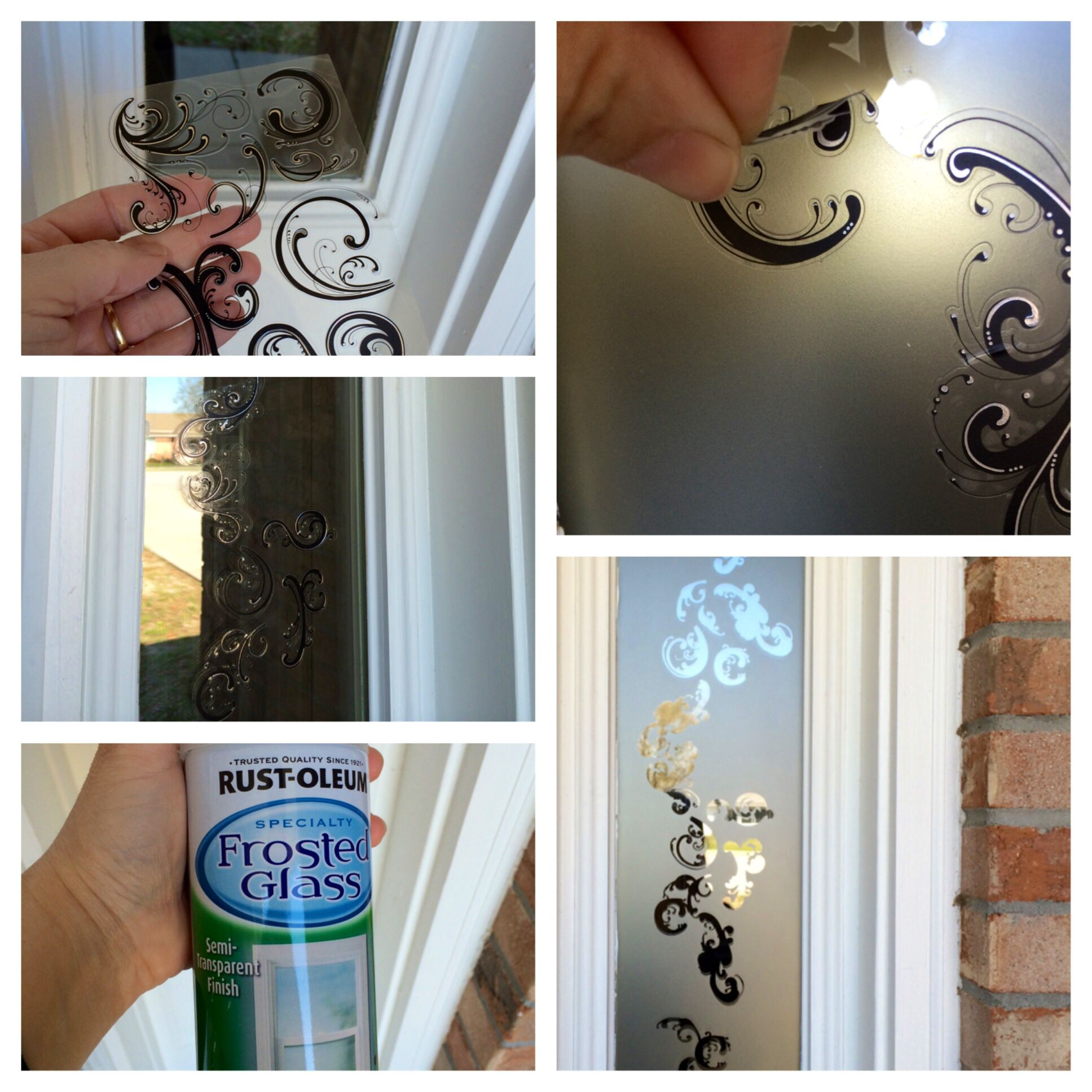 Using Frosted Glass Spray Paint