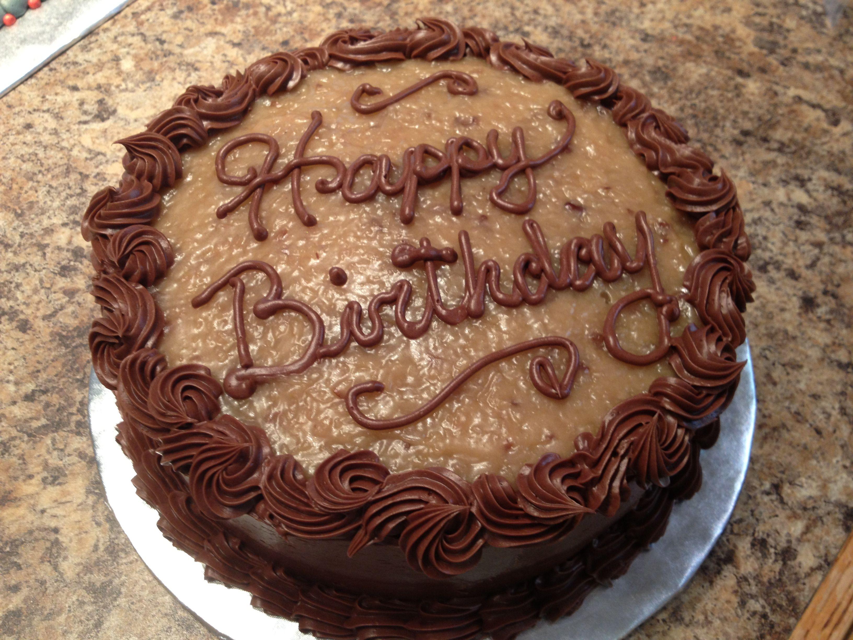 Decorated German Chocolate Cake German Chocolate Birthday Cake By Karens Kaykes Karens Kaykes