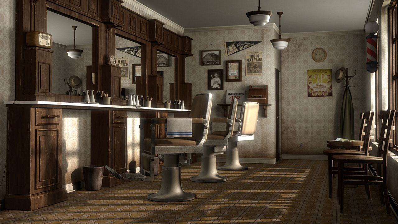 Man Cave Barber Dublin : A 1950's barber shop the old world charm of your father's