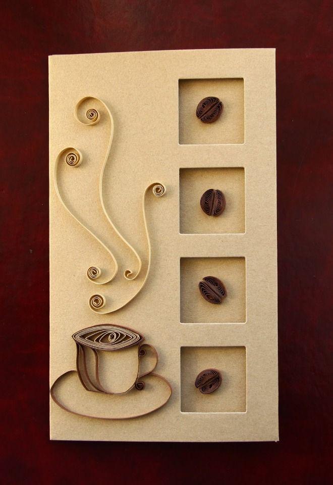 Как сделать открытку кофе, приколом марта