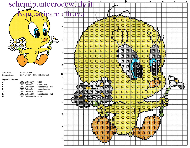 Baby titti con fiori margherite schema punto croce gratis for Schemi a punto croce gratis
