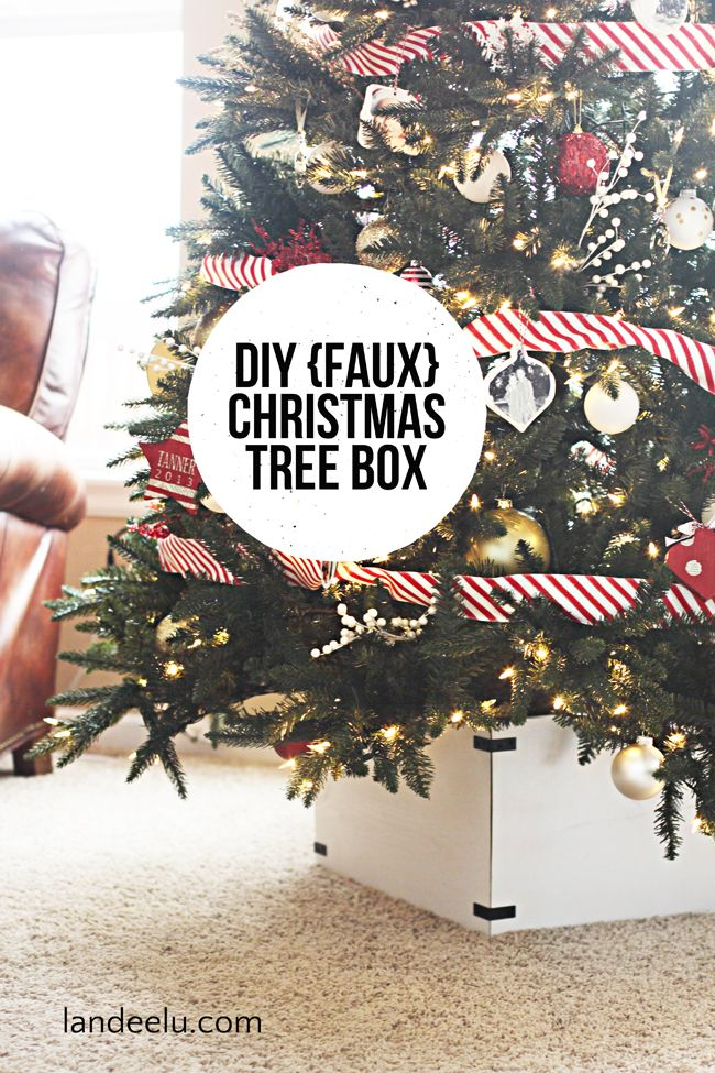 Diy Faux Christmas Tree Box Faux Christmas Trees Christmas Tree Box Stand Christmas Tree Box