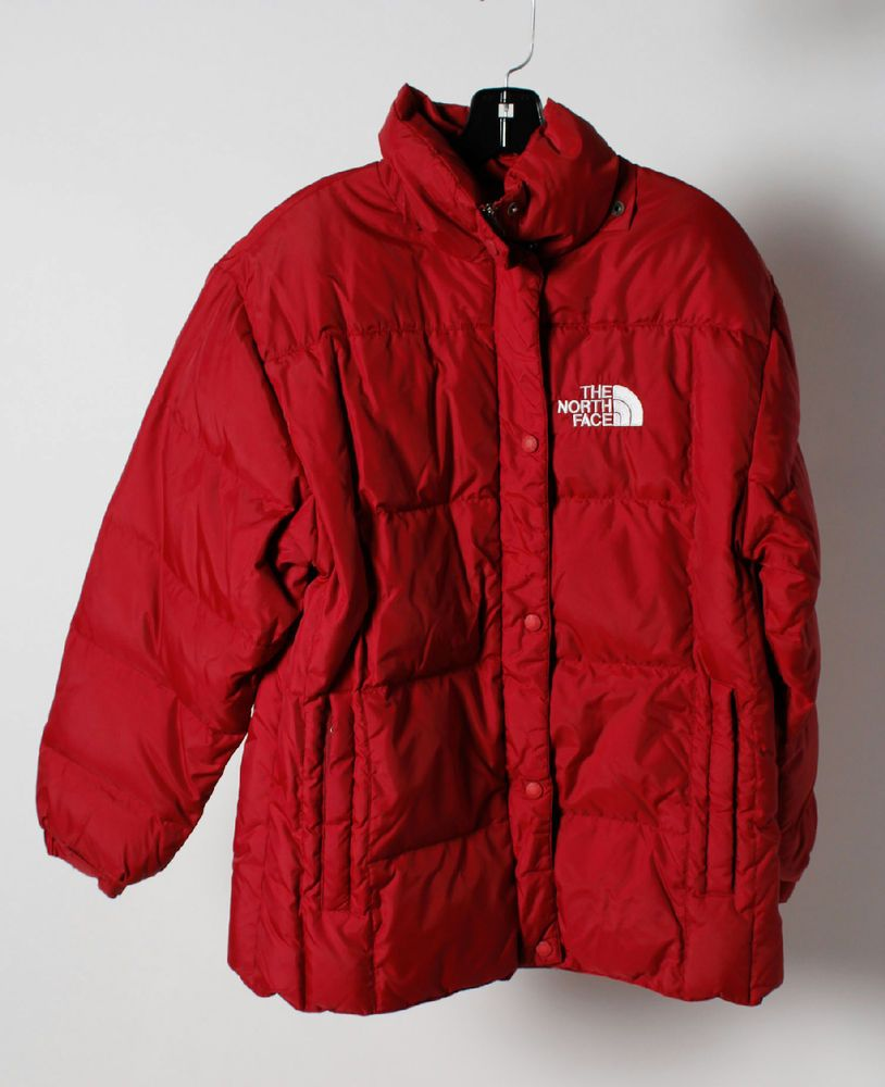 The North Face Red Zip Button Up Men S Puffy Windbreaker Jacket Size L Thenorthface Puffer Jackets Mens Jackets Windbreaker Jacket [ 1000 x 814 Pixel ]