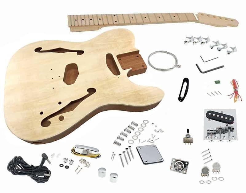 Solo Tck 150 Diy Semi Hollow Electric Guitar Kit With Maple Reverb Guitar Kits Electric Guitar Kits Electric Guitar