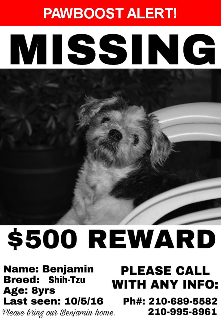 Please spread the word! Benjamin was last seen in San Antonio, TX 78221.