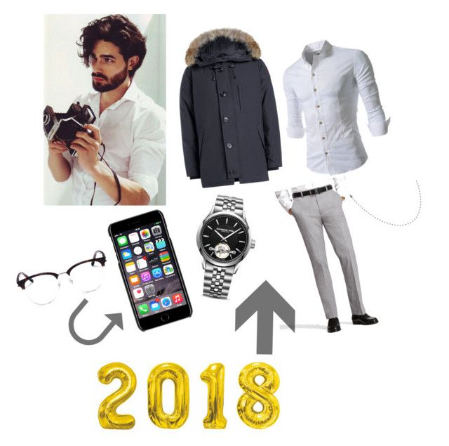 """""""2018!!!"""" by maid-saric ❤ liked on Polyvore featuring Canada Goose, Brooks Brothers, Raymond Weil, Dolce&Gabbana, Yves Saint Laurent, men's fashion and menswear"""