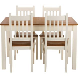 Chiltern Extending Dining Table And 4 Chairs From Homebase Co Uk Dining Table Extendable Dining Table Table