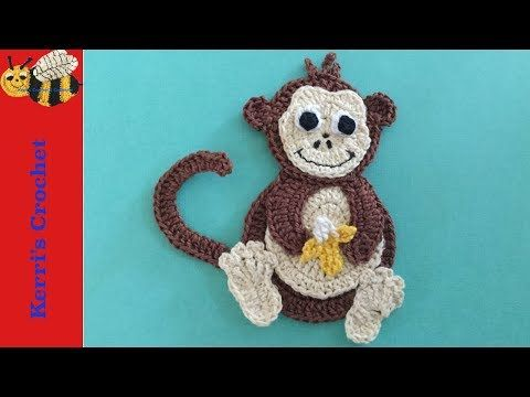 Crochet Applique Tutorials Crochet Monkey Youtube Crochet