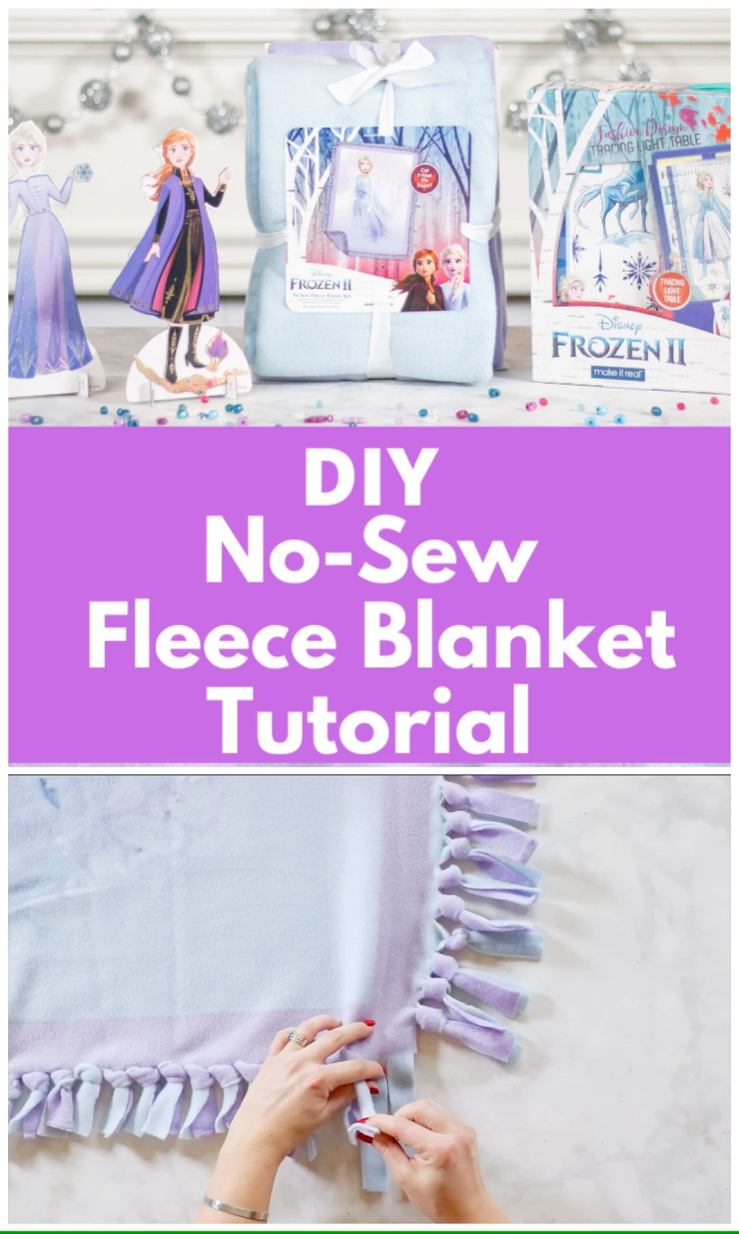Photo of DIY No Sew Fleece Blanket Tutorial