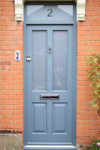 Kingston Front Door In Pale Blue Grey