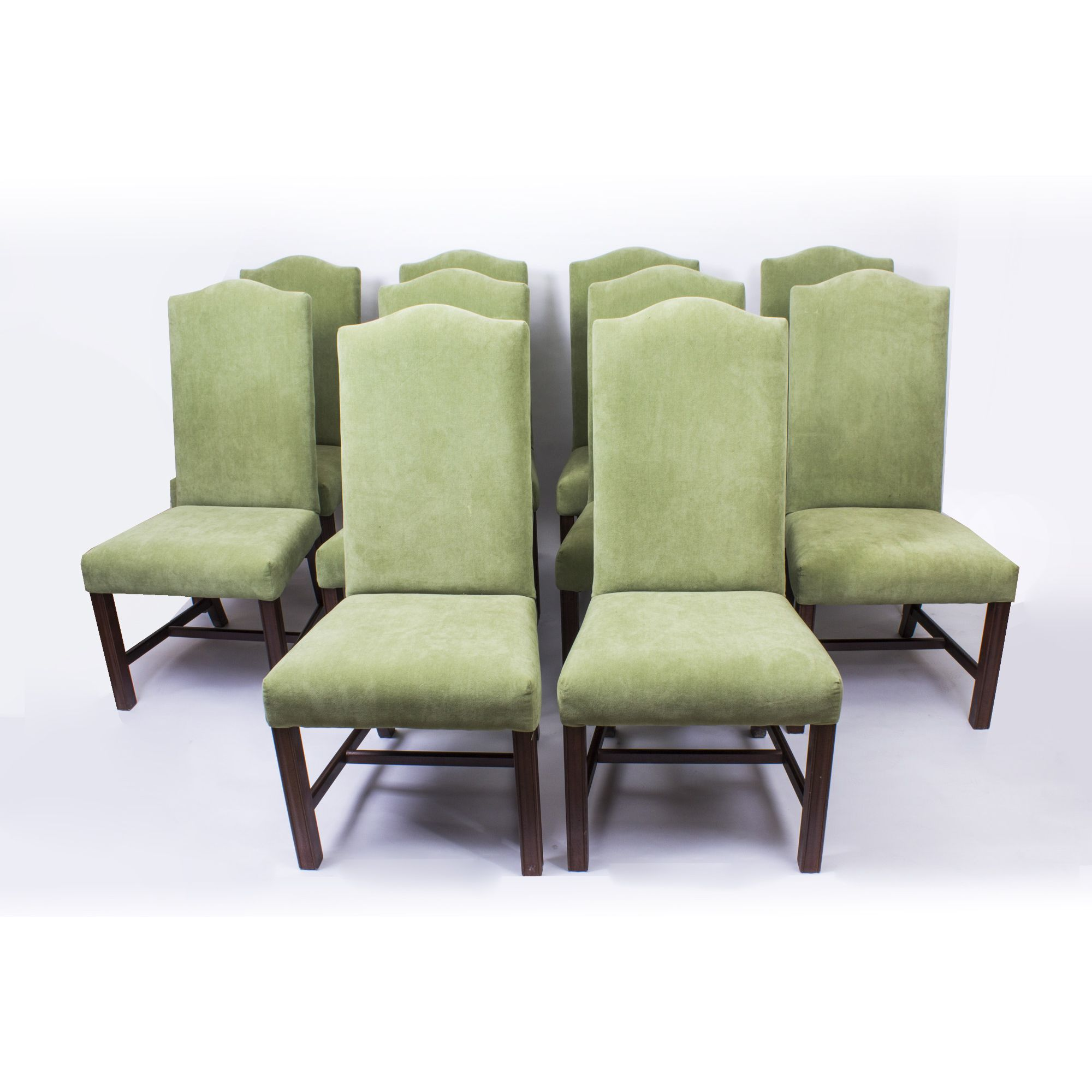 An Absolutely Fantastic English Made Set Of Ten Dining Chairs, Dating From  The Second Half