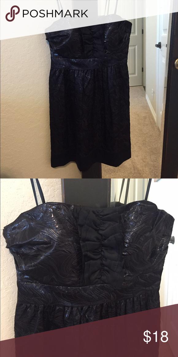 Strapless black party dress BCBG black strapless party dress BCBG Dresses Strapless
