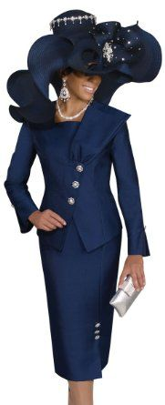 3a311dba5285e Amazon.com: First Lady Church Suit by Donna Vinci 11184: Clothing ...