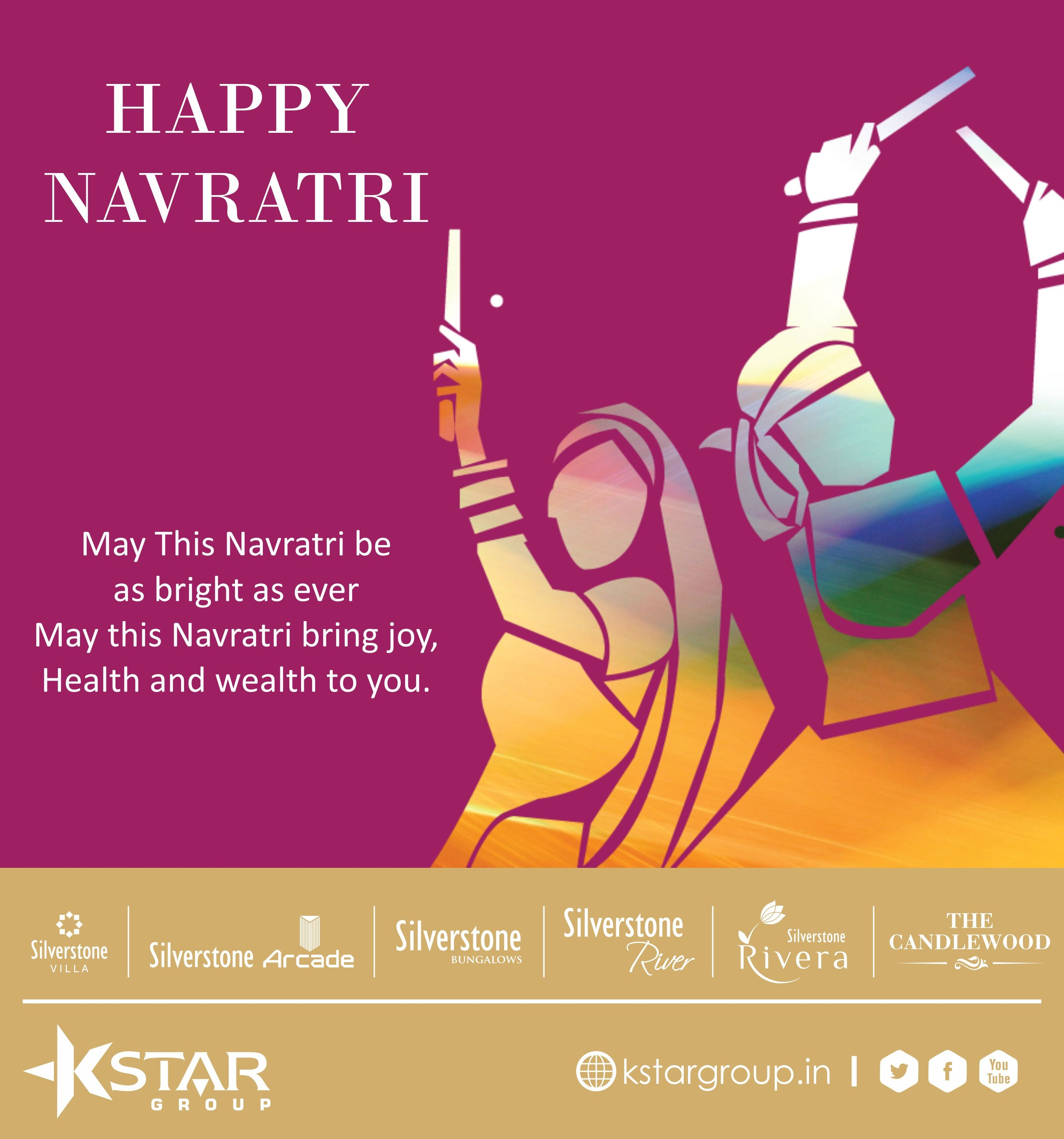 May This Navratri be as bright as ever May this Navratri bring joy, Health and wealth to you. ‪#‎Navratri‬ ‪#‎garba‬ ‪#‎dandiya‬