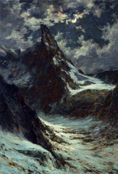 Charles Bertier (Grenoble 1860 - Grenoble 1924) LA DENT DU GÉANT