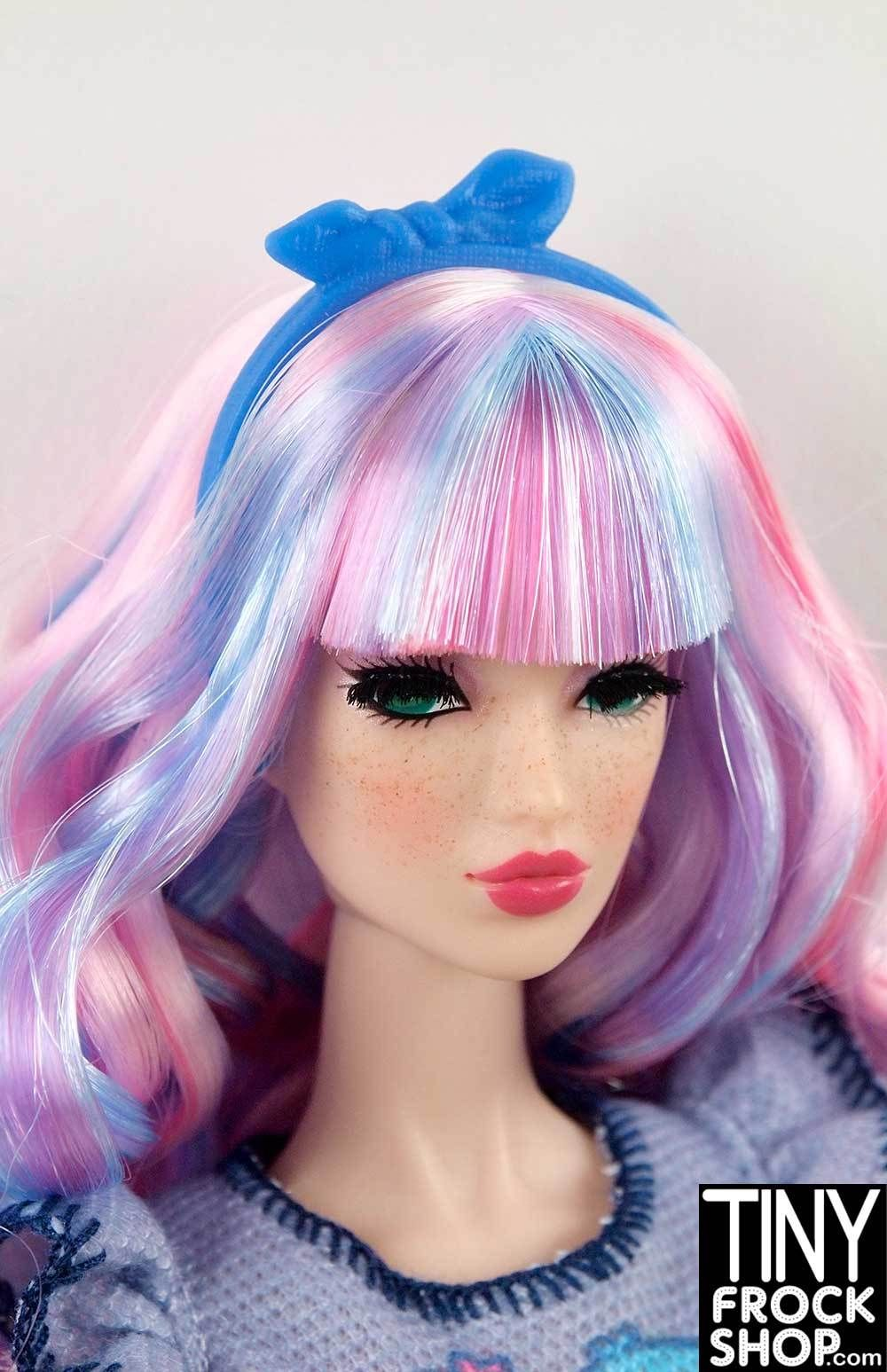 NEW BARBIE BLUE BOW HEADBAND  for Barbie doll ACCESSORY