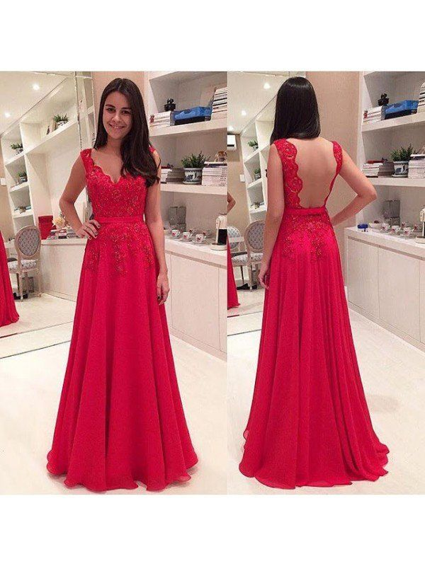 9aea98677b Illusion Back Red Long Prom Evening Dress pst0616 in 2019