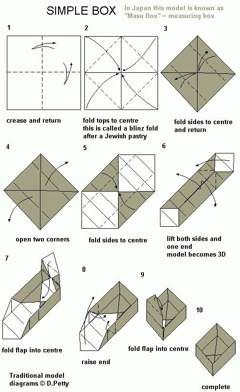 Easy Origami Box Craftiness Pinterest Easy Origami Origami