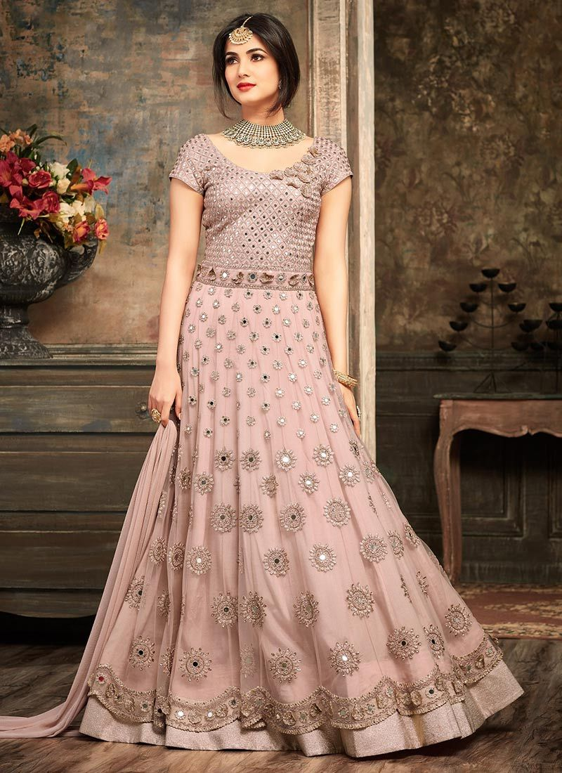 f02fdfadd6 Buy Sonal Chauhan Mauve Anarkali Suit 5102 online in USA, UK and Canada  from KollyBollyEthnnics.com