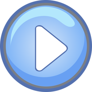 Blue Play Button In Vector Format Music For Kids Audio Cassette Video Player