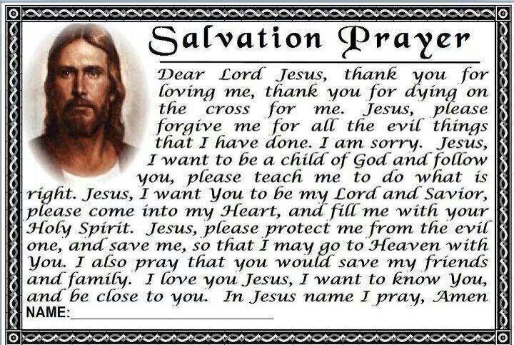 Love this good prayers salvation prayer sinners prayer