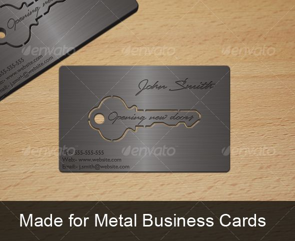 Metal Key Business Card Metal Business Cards Realtor Business Cards Innovative Business Cards