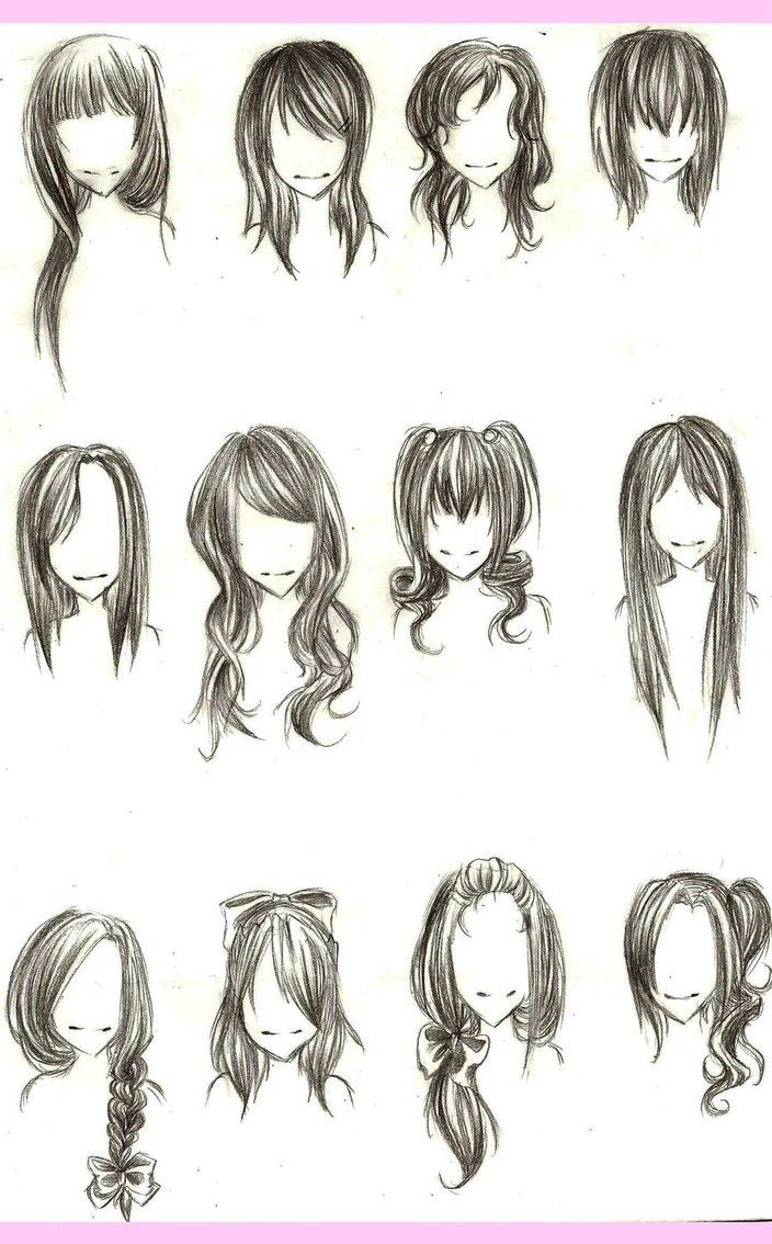 how to draw hair/hair ideas for sketches | art ♡ | pinterest | draw