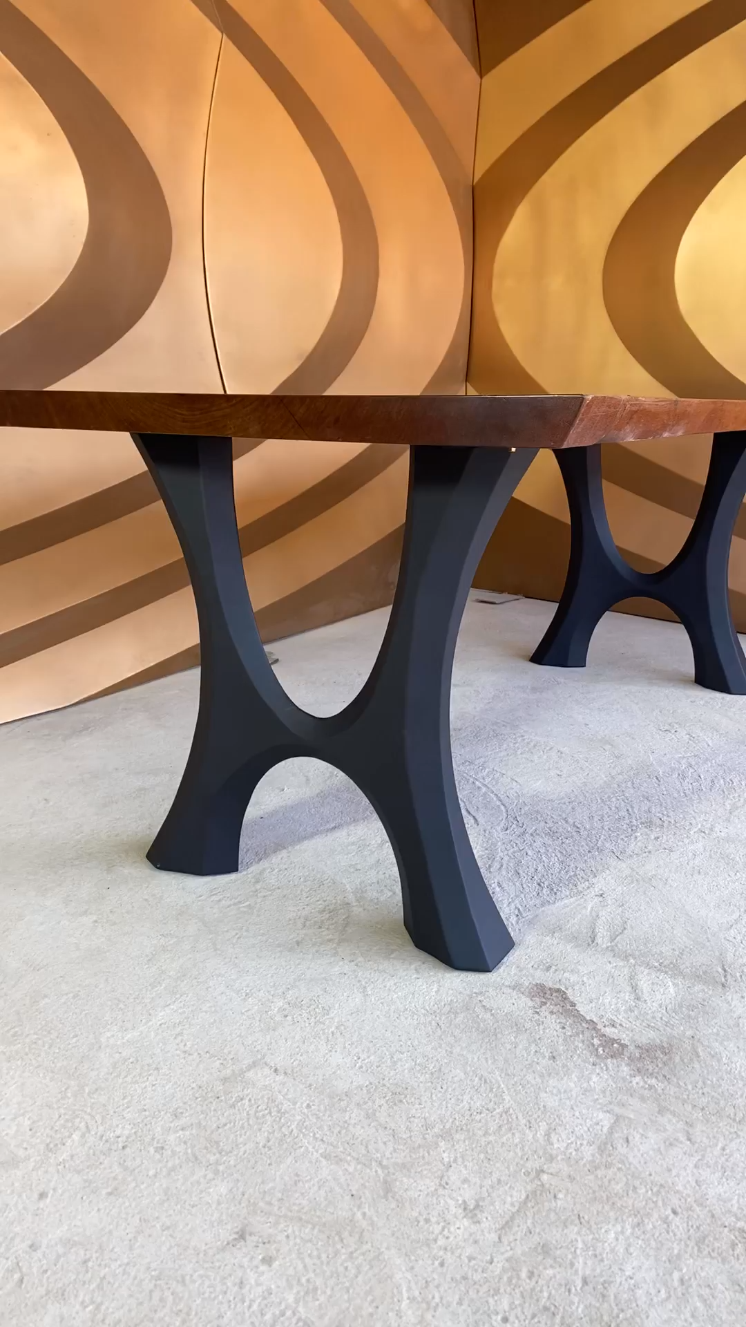 Table Legs & Metal Table Base for live edge top, river table, dining table