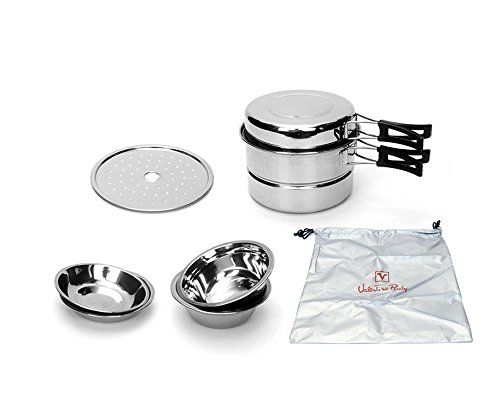 Stainless Steel Camp Kitchen Equipment Outdoor Camping Cookware ...