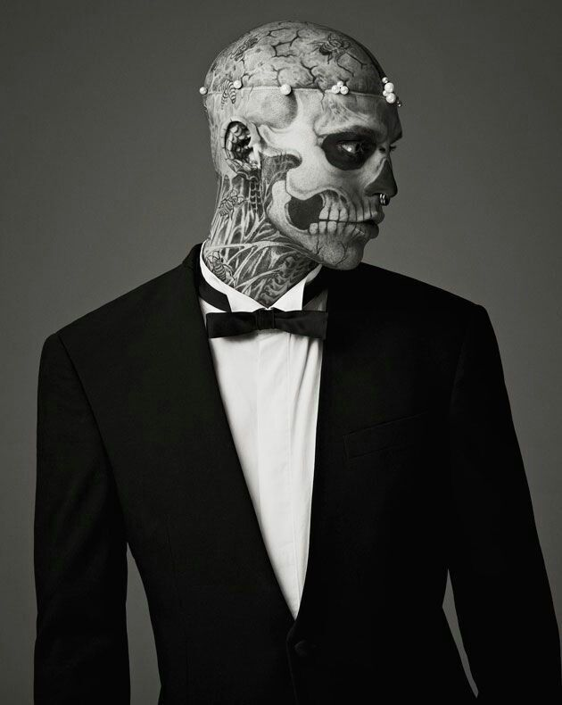 Rick genest , zombie boy in suits