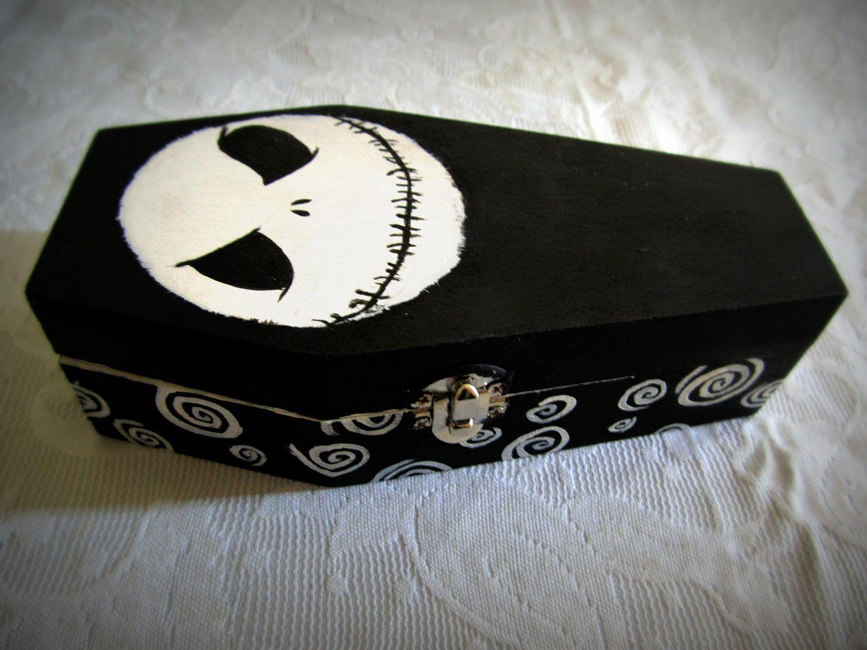 Nightmare Before Christmas Coffin Box by ATadBitBatty on Etsy, $30.00
