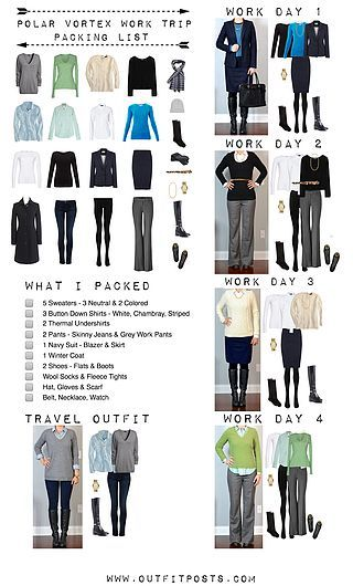 one suitcase business casual checklist graphic outfit posts