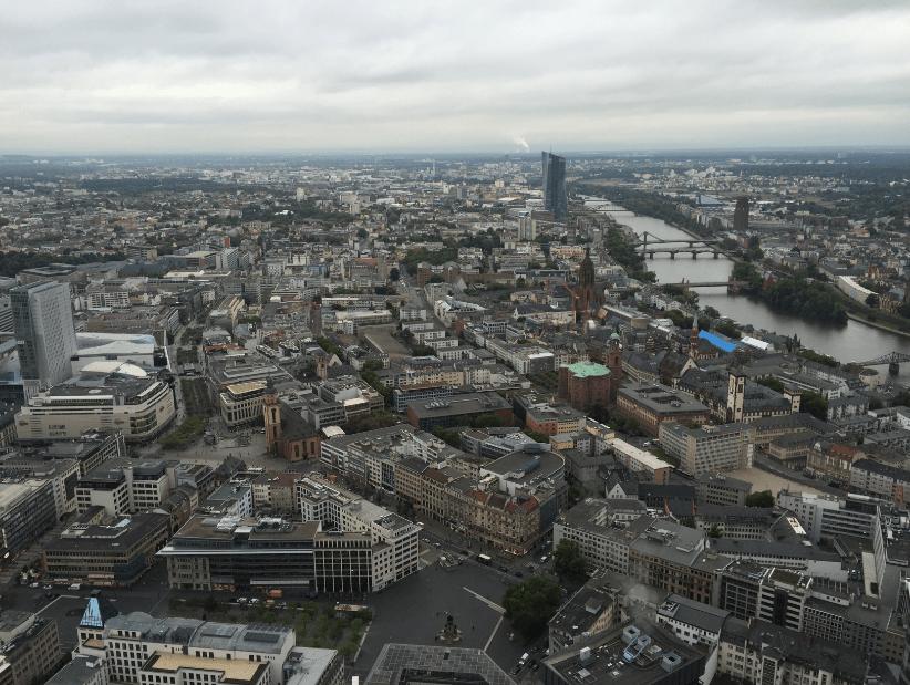 Frankfurt main tower for its impressive skyline view