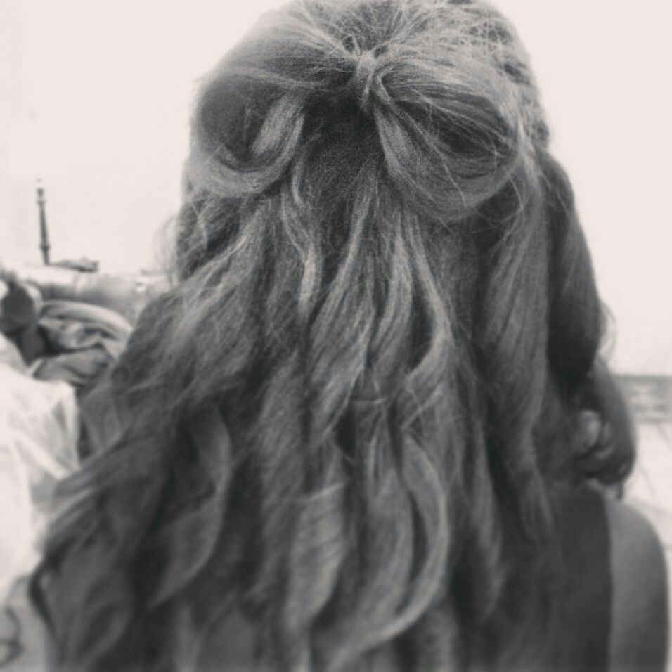 My first wedding hair and my first bow.