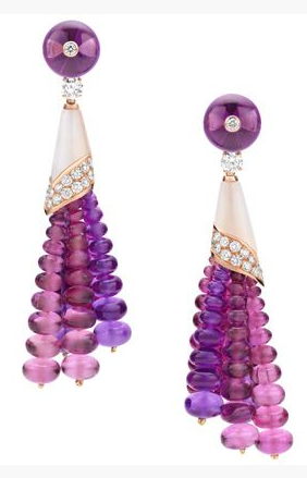 Bulgari Diva high-jewellery pearl and rubellite earrings - Bulgari