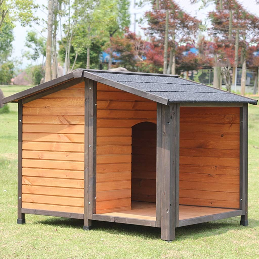 Free Shipping House Dog Cage Cat House Outdoor Garden Solid Wood Dog House Rain Sun Protection Dog House Dog Houses Wood Dog House