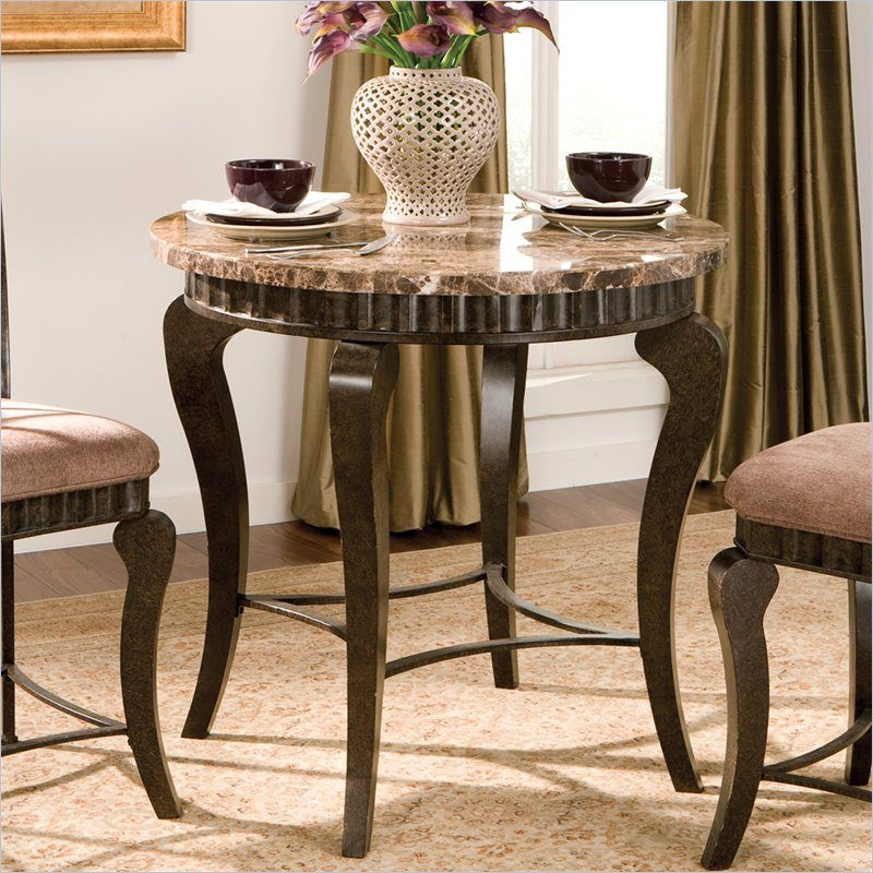 Good Steve Silver Company Hamlyn 3 Piece Round Counter Height Dining Table Set  In Brown   HL600PT
