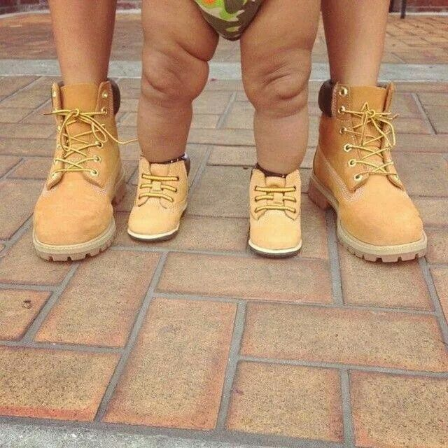 Like father, like son, Timberland boots | Family Love | Baby