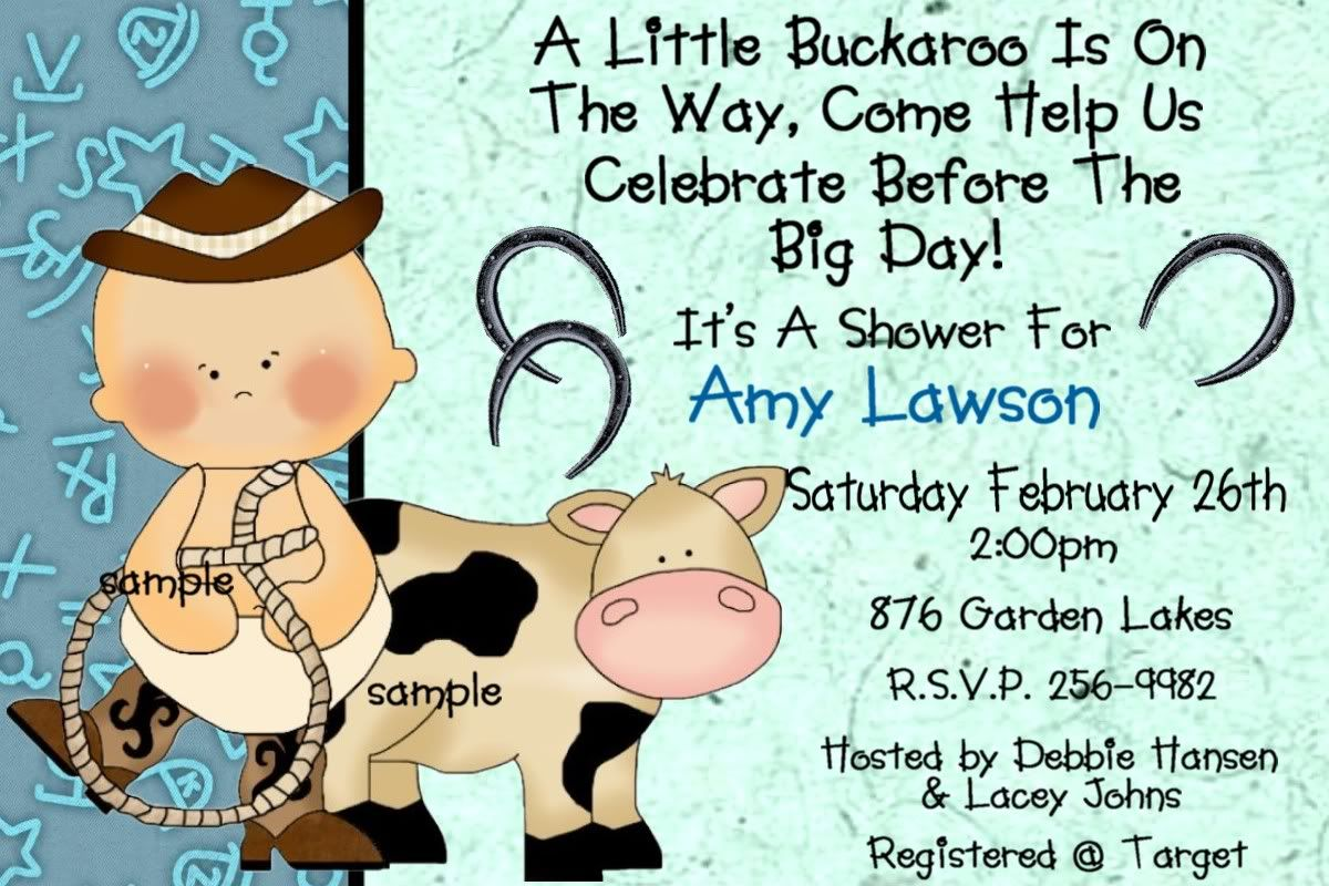 Free Printable Western Baby Shower Invitations Cowboy Baby Shower