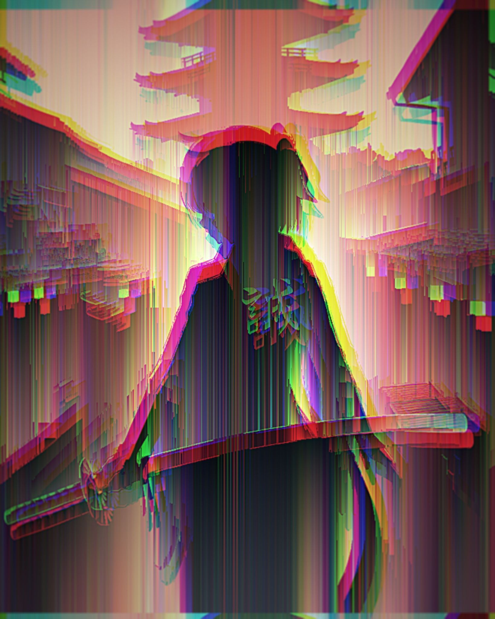 Anime Glitch With Images Glitch Wallpaper Anime Wallpaper Iphone