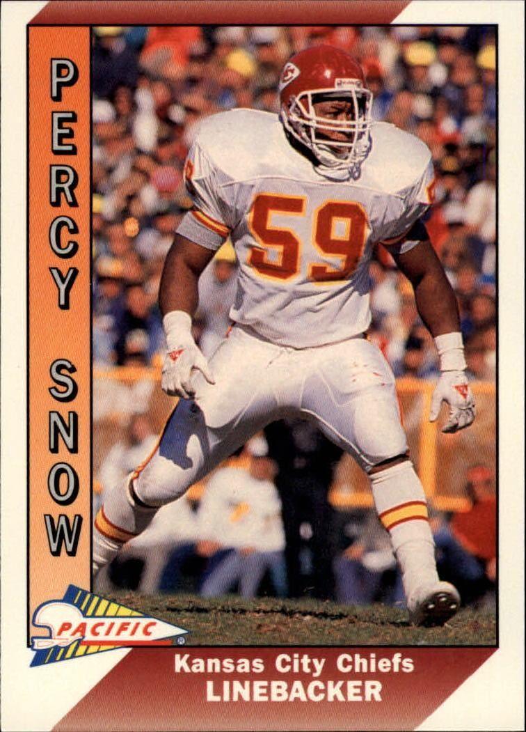 1991 Pacific 224 Percy Snow Football Card Football