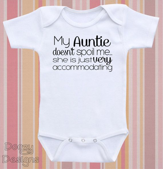 New Funny Personalised Long Sleeve Baby Vest My Auntie Loves Me not Football
