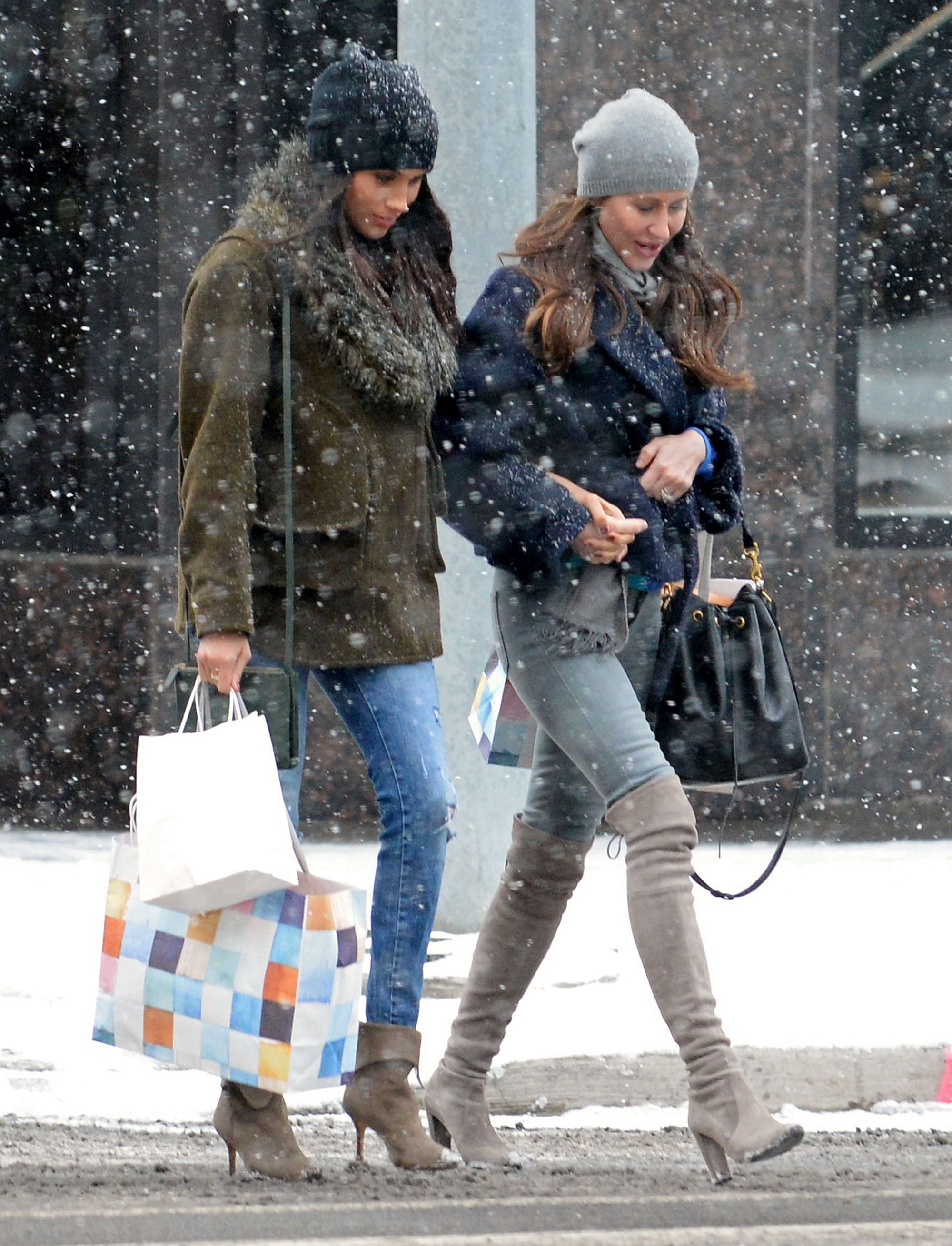 c7416bf704 Meghan Markle Manages to Look Flawless While Bundled Up in Snowy Toronto  from InStyle.com