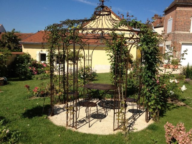 gloriette en fer forg 3m50 de diam tre ebay fer forg pinterest gazebo pergola. Black Bedroom Furniture Sets. Home Design Ideas