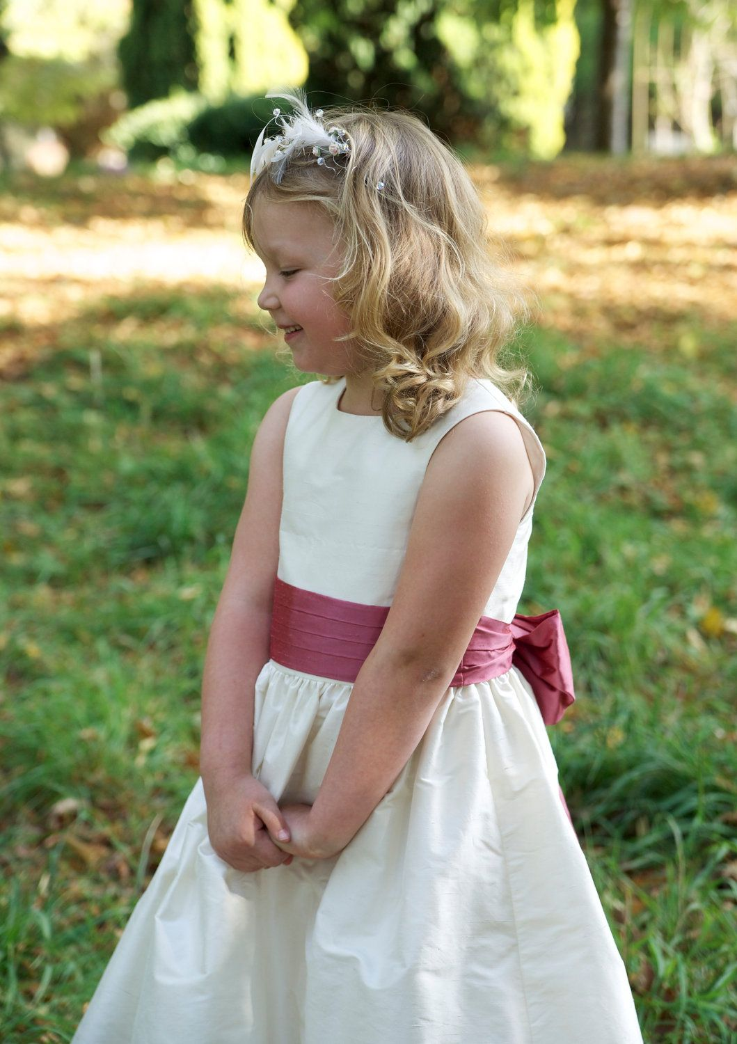 e034023a792d Flower Girl Dress pattern with free you tube on line tutorials