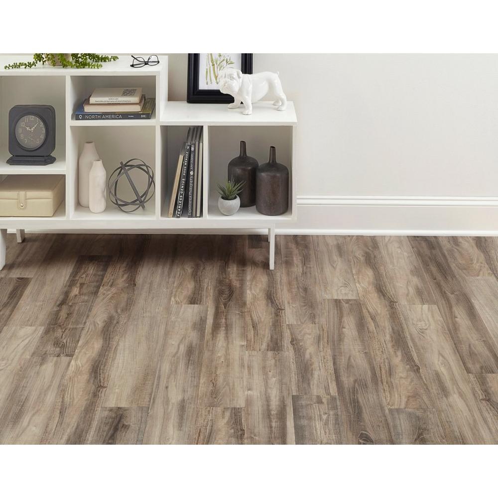 Ombre Gray Rigid Core Luxury Vinyl Plank Cork Back In 2020 Vinyl Plank Luxury Vinyl Plank Grey Vinyl Flooring