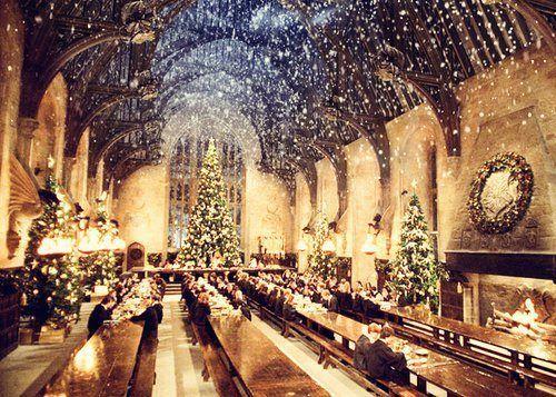Christmas At Hogwarts Harry Potter Weihnachten Hogwarts Grosse Halle Hogwarts Weihnachten