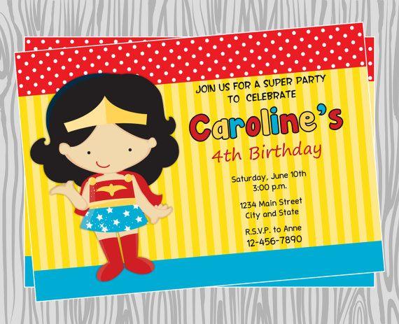 Mujer Maravilla Niña Animada: Girl Wonder Woman Superhero Birthday Party